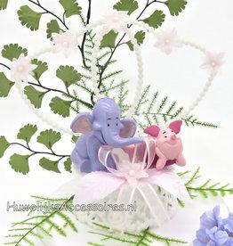 Disney Lumpy en Piglet bruidstaart topper