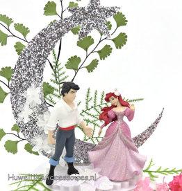 Disney Prinses Ariel en Prins Eric taarttopper