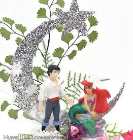 Disney Prinses Ariel met Prins Disney bruidstaart topper