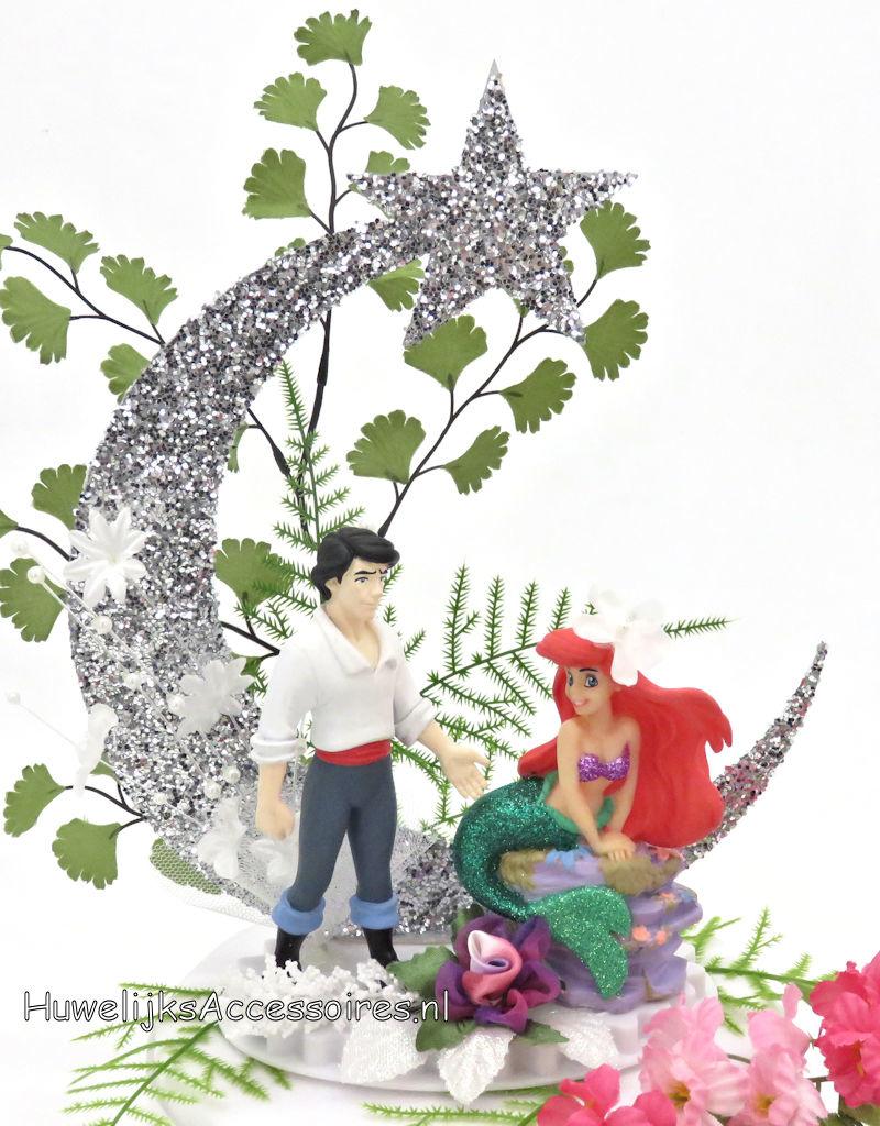 Disney Disney Prinses Ariel en Prins Eric bruidstaart topper