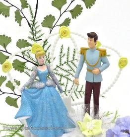 Disney Princess Cinderella met Prins bruidstaart topper