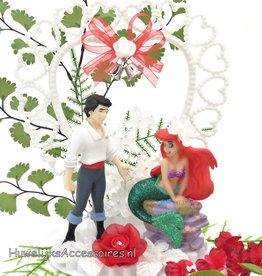 Disney Ariel en Eric disney bruidstaart topper