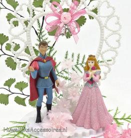 Disney Aurora en Prins Phillip bruidstaart topper