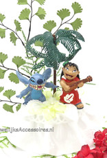 Disney Stitch en Lilo disney bruidstaart topper versiert met kant