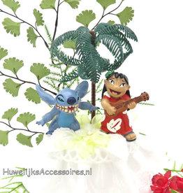 Disney Stitch en Lilo bruidstaart topper