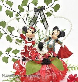 Disney Spaanse Mickey en Minnie bruidstaart topper