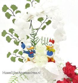 Disney Donald en Katrien bruidstaart topper