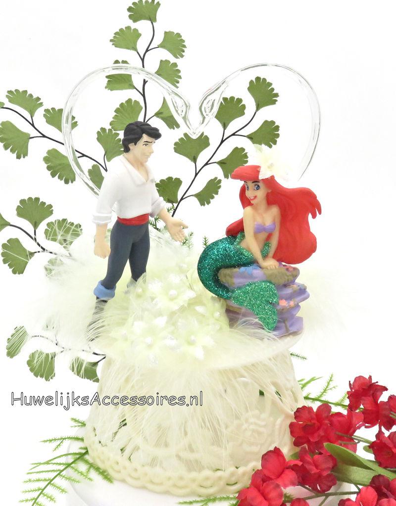 Disney Prinses Ariel en Eric Disney bruidstaart topper