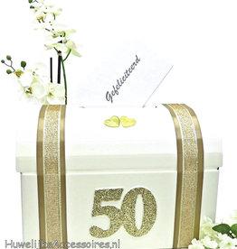 50 jaar gouden bruiloft enveloppendoos