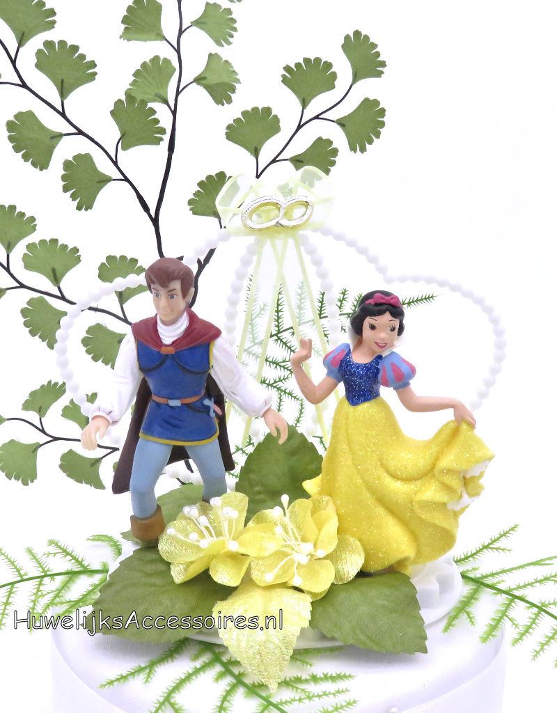 Disney Prins Charming en Prinses Sneeuwwitje bruidstaart topper