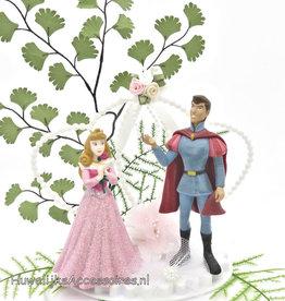 Disney Aurora en Prince Phillip bruidstaart topper