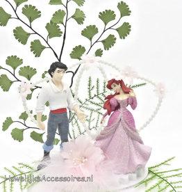 Disney Ariel en Eric bruidstaart topper
