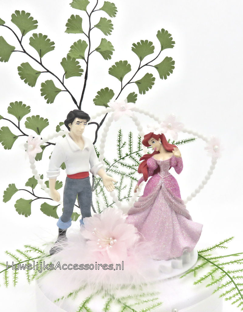 Disney Prinses Ariel en Prins Eric trouw taarttopper
