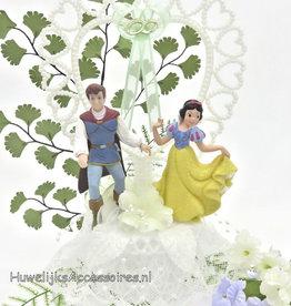 Disney Bruidstaart topper Sneeuwwitje met Prins