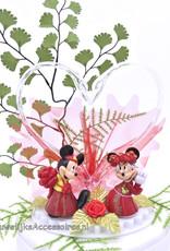 Disney Hong Kong Mickey en Minnie bruidstaart topper met zwanen