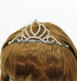 Bruids tiara met strass steentjes