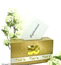 Gouden jubileum enveloppendoos