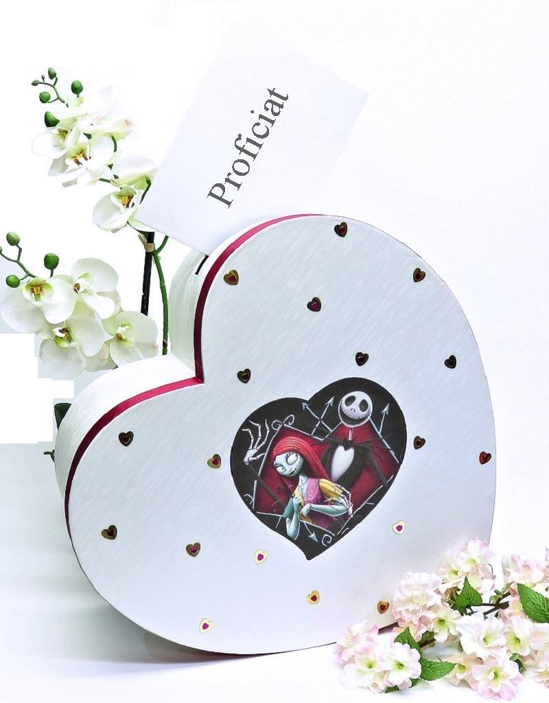 Disney Jack en Sally hartvorm huwelijks receptie enveloppendoos