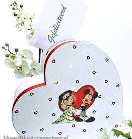 Disney Mickey en Minnie rood hart enveloppendoos