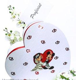 Disney Mickey en Minnie Mouse bruiloft enveloppendoos