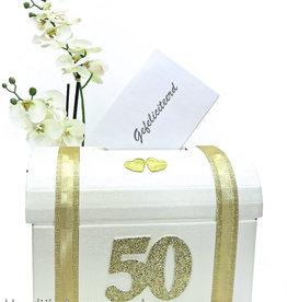 Gouden bruiloft enveloppendoos