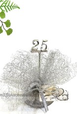 25 jaar zilveren jubileum bruiloft bedankje