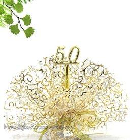 Gouden jubileum bruiloft bedankje