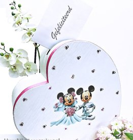 Disney Mickey en Minnie hartvorm enveloppendoos