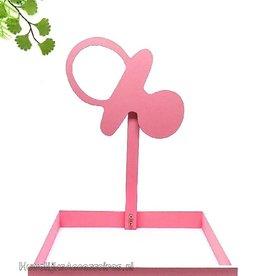 Bedankjes presentatie met roze speen