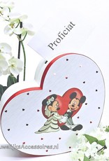 Disney Mickey en Minnie hartvormige receptie enveloppendoos