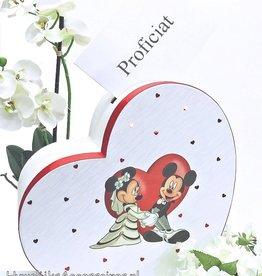 Disney Mickey en Minnie hartvormige enveloppendoos