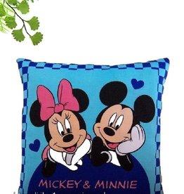 Disney Mickey en Minnie op blauwe Disney kussen