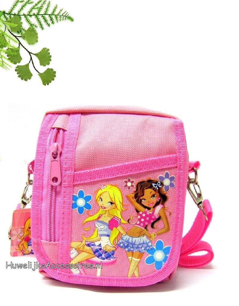 Mooie roze schouder tasje voor meisjes