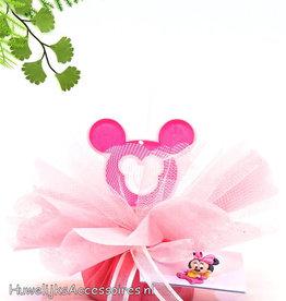 Disney Disney Minnie Mouse bedankje met roze tule