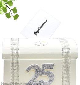 25 jaar jubileum huwelijk enveloppendoos