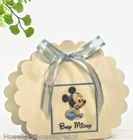 Disney Leuke baby Mickey Mouse geboorte bedankje