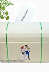Disney Mooie ivoren enveloppendoos met prinses Ariel & Erik