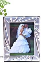 Trouw fotolijst bruidspaar verzilverd