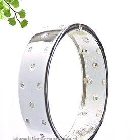 Zilver bruids strass armband