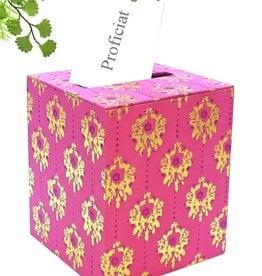 Roze en goud enveloppendoos