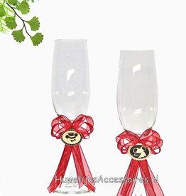Disney Leuke champagneglazen van Mickey en Minnie