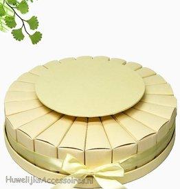 24 delig bedankjes taart ecru