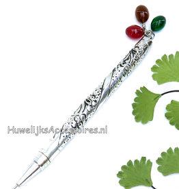 Receptie pen versierd met kralen