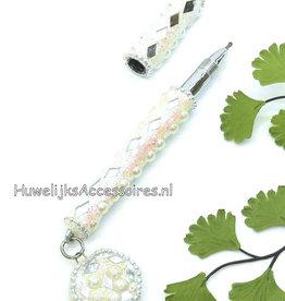 Pen voor bruiloft versierd met spiegeltjes