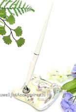 Prachtige receptie pen met een mooie houder
