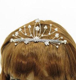 Bruid tiara met strass stenen
