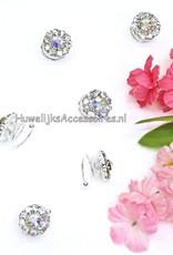 Perfecte zilveren haar set van 6 strass curlies voor uw bruiloft