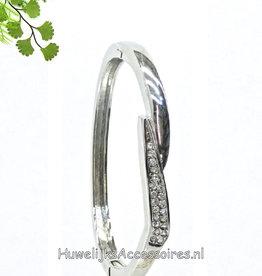 Armband ovale zilver gekleurd