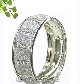 Luxe slavenarmband zilver gekleurd
