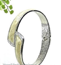 Zilver bruids armband met emaillen inzet